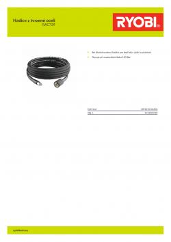 RYOBI RAC739 Hadice z tvrzené oceli 5132004785 A4 PDF