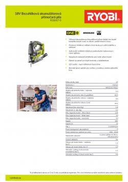 RYOBI R18JS7 18V Bezuhlíková akumulátorová přímočará pila 5133004223 A4 PDF