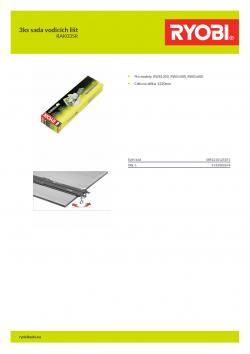 RYOBI RAK03SR 3ks sada vodicích lišt 5132002674 A4 PDF