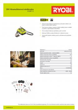 RYOBI R18RT 18V Akumulátorová minibruska 5133004366 A4 PDF