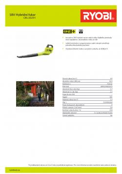 RYOBI RBL1820H 18V Hybridní fukar 5133002340 A4 PDF