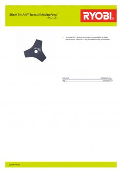 RYOBI RAC108 20cm Tri-Arc™ kotouč křovinořezu 5132002650 A4 PDF