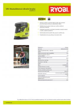RYOBI R18PS 18V Akumulátorová vibrační bruska 5133002443 A4 PDF