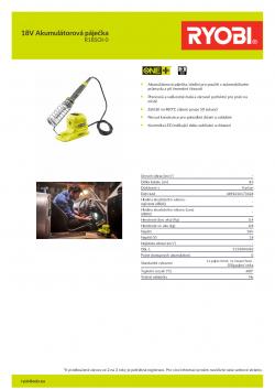 RYOBI R18SOI 18V Akumulátorová páječka 5133004382 A4 PDF