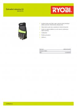 RYOBI RAC811L Zahradní rukavice (L) 5132002991 A4 PDF