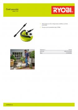 RYOBI RAC719 Čistič povrchů 5132003861 A4 PDF