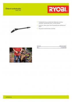 RYOBI RAC742 Úhlová turbotryska 5132004788 A4 PDF
