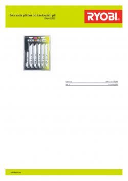 RYOBI RAK06RB 6ks sada plátků do šavlových pil 5132002547 A4 PDF