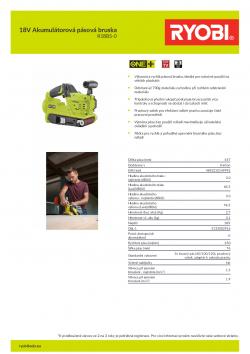RYOBI R18BS 18V Akumulátorová pásová bruska 5133002916 A4 PDF