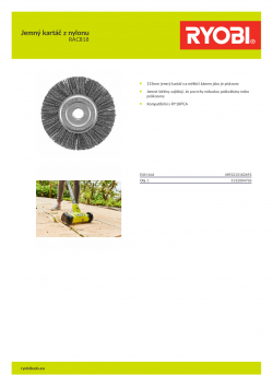 RYOBI RAC818 Jemný kartáč z nylonu 5132004736 A4 PDF