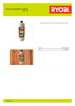 RYOBI RAC734 Čistící prostředek na dřevo 5132003871 A4 PDF