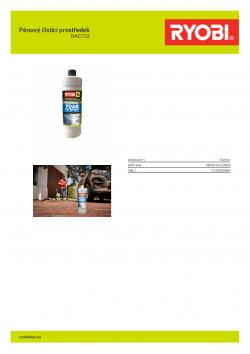 RYOBI RAC732 Pěnový čistící prostředek 5132003869 A4 PDF