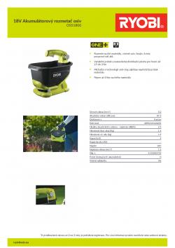 RYOBI OSS1800 18V Akumulátorový rozmetač osiv 5133003729 A4 PDF