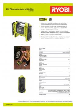 RYOBI R18MI 18V Akumulátorový multi inflátor 5133004714 A4 PDF