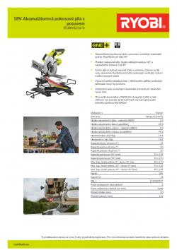 RYOBI R18MS216 18V Akumulátorová pokosová pila s posuvem 5133003597 A4 PDF