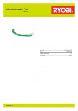 RYOBI LTA036 Náhradní struna Pro Cut II 5132000087 A4 PDF