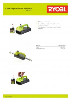 RYOBI RAC311 Kartáč na promazávání plototřihu 5132002864 A4 PDF