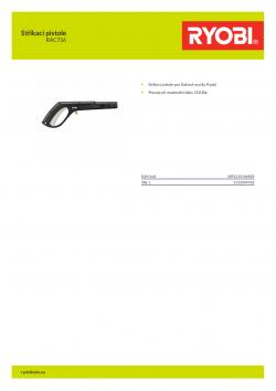RYOBI RAC736 Stříkací pistole 5132004782 A4 PDF