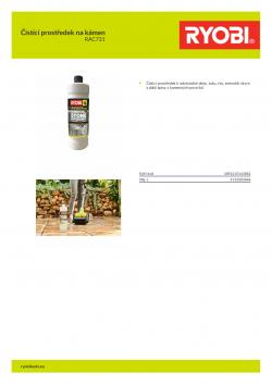 RYOBI RAC731 Čistící prostředek na kámen 5132003868 A4 PDF