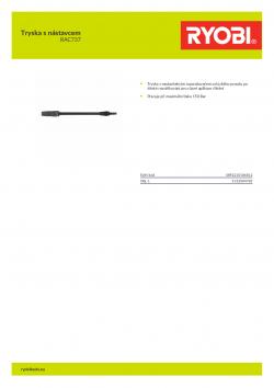 RYOBI RAC737 Tryska s nástavcem 5132004783 A4 PDF