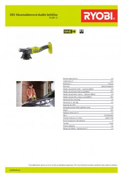 RYOBI R18P 18V Akumulátorová duální leštička 5133004845 A4 PDF