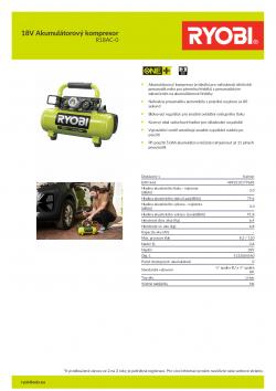 RYOBI R18AC 18V Akumulátorový kompresor 5133004540 A4 PDF