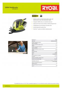 RYOBI RPS100 100W Multibruska 5133002902 A4 PDF
