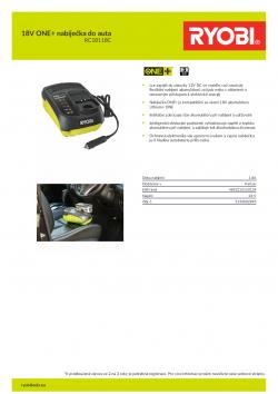 RYOBI RC18118C 18V ONE+ nabíječka do auta 5133002893 A4 PDF
