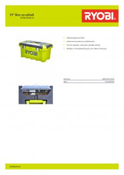 """RYOBI RTB19INCH 19"""" Box na nářadí 5132004362 A4 PDF"""
