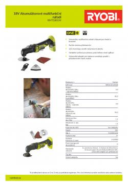 RYOBI RMT1801 18V Akumulátorové multifunkční nářadí 5133001632 A4 PDF