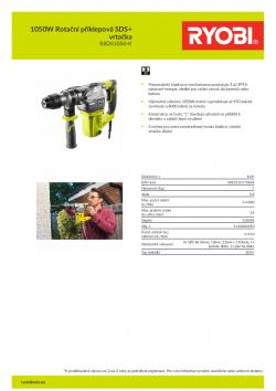 RYOBI RSDS1050 1050W Rotační příklepová SDS+ vrtačka 5133004350 A4 PDF