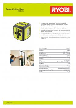 RYOBI RBCLLR1 Červený křížový laser 5133004863 A4 PDF