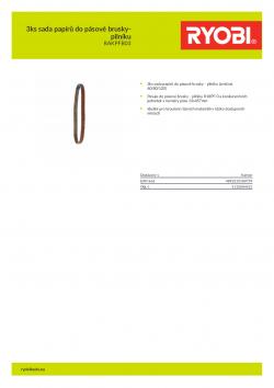 RYOBI RAKPFB03 3ks sada papírů do pásové brusky-pilníku 5132004521 A4 PDF