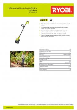 RYOBI PC18PCB 18V Akumulátorový patio čistič s rýžákem 5133004729 A4 PDF