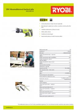 RYOBI RRS1801 18V Akumulátorová šavlová pila 5133001162 A4 PDF
