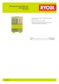 RYOBI RAK10JSB 10ks sada pilových plátku do přímočaré pily 5132002702 A4 PDF