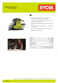 RYOBI RMS180 180W Multibruska 5133002910 A4 PDF