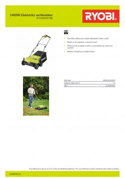 RYOBI RY1400SF35B 1400W Elektrický vertikutátor 5133004656 A4 PDF