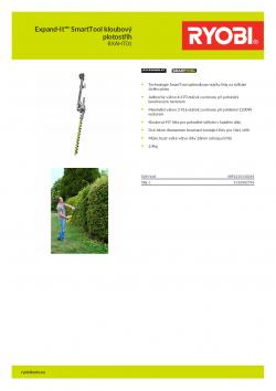 RYOBI RXAHT01 Expand-It™ SmartTool kloubový plotostřih 5132002796 A4 PDF