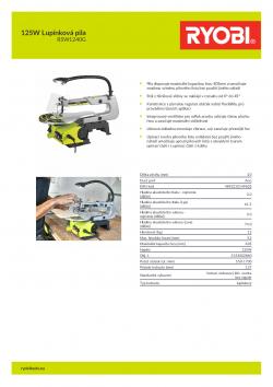 RYOBI RSW1240G 125W Lupínková pila 5133002860 A4 PDF