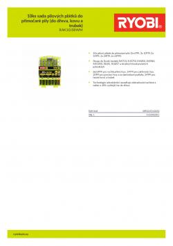 RYOBI RAK10JSBWM 10ks sada pilových plátků do přímočaré pily (do dřeva, kovu a trubek) 5132002811 A4 PDF