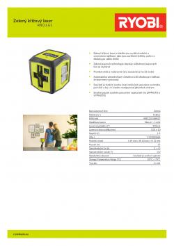RYOBI RBCLLG1 Zelený křížový laser 5133004864 A4 PDF