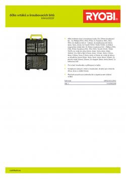 RYOBI RAK60DDF 60ks vrtáků a šroubovacích bitů 5132002248 A4 PDF