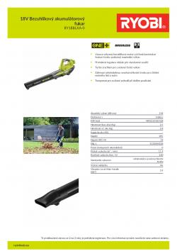 RYOBI RY18BLXA 18V Bezuhlíkový akumulátorový fukar 5133004536 A4 PDF