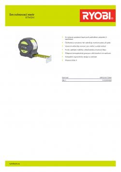 RYOBI RTM 5m svinovací metr 5132004360 A4 PDF
