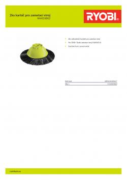 RYOBI RAKDSB02 2ks kartáč pro zametací stroj 5132004820 A4 PDF