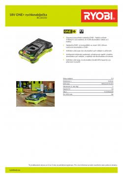 RYOBI RC18150 18V ONE+ rychlonabíječka 5133002638 A4 PDF