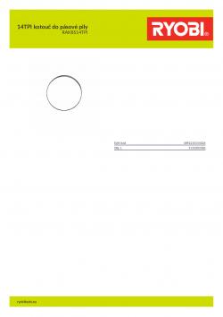 RYOBI RAKBS14TPI 14TPI kotouč do pásové pily 5132003386 A4 PDF