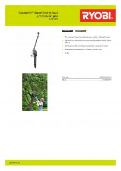 RYOBI RXPR01 Expand-It™ SmartTool tyčová prořezávací pila 5132002797 A4 PDF
