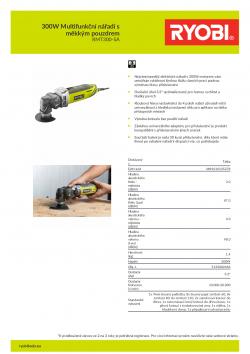 RYOBI RMT300 300W Multifunkční nářadí s měkkým pouzdrem 5133002446 A4 PDF